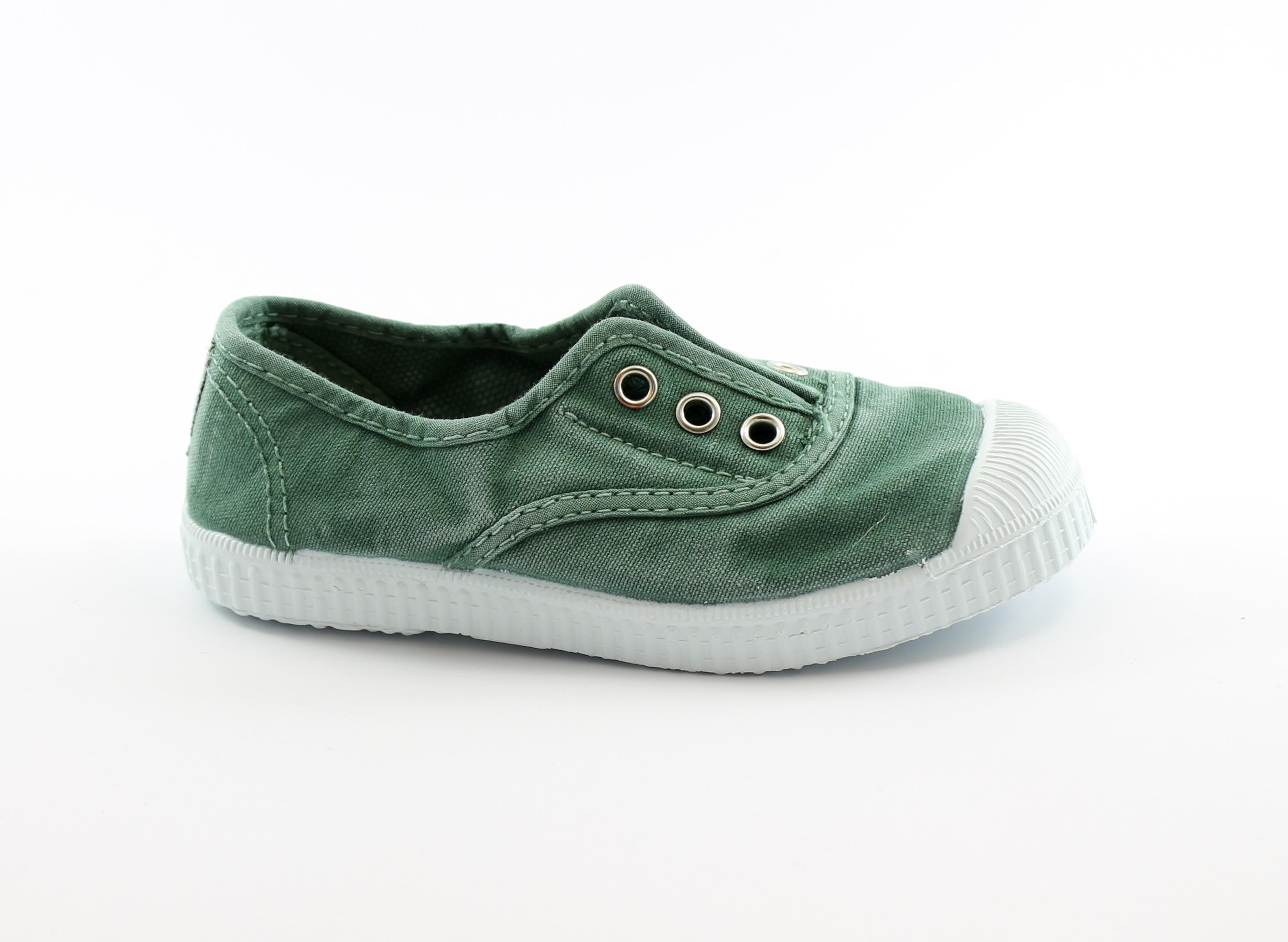 CIENTA 70777 189 22/33 albahaca verde scarpe unisex elastico tessuto bambino