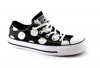 CONVERSE 556816C black white nero bianco all star basse donna puà