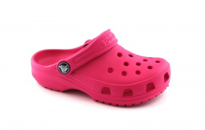 CROCS ROOMY FIT 204536 candy pink rosa ciabatte bambina gomma