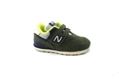 NEW BALANCE IV574 HG verde blu lime scarpe bambino strappi sneakers