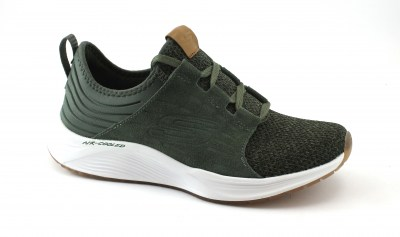 SKECHERS 13046 OLV verde scarpe donna sport air-cooled memory foam