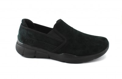 SKECHERS 52938 black nero scarpe uomo memory foam sportive slip on