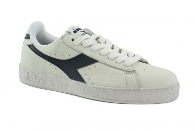DIADORA C5262 GAME L LOW WAXED bianco blu scarpe unisex sneakers pelle