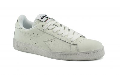 DIADORA C6180 GAME L LOW WAXED white bianco scarpe unisex sneakers pelle