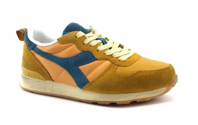 DIADORA 40002 CAMARO USED orange mustard giallo scarpe uomo sneakers