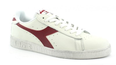 DIADORA C5147 GAME L LOW WAXED bianco rosso scarpe unisex sneakers pelle