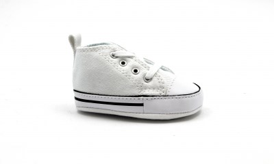 CONVERSE 88877 white bianco scarpe snakers unisex culla all star mid