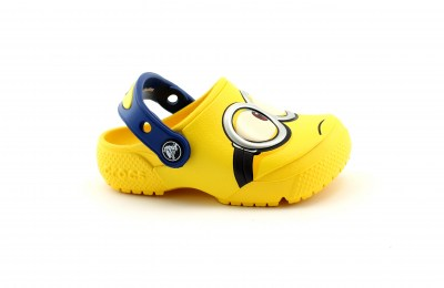 CROCS ROOMY FIT 204113 yellow giallo ciabatte bambino gomma MINIONS CROCSFUNLAB