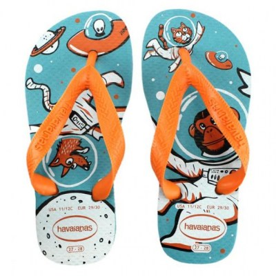 HAVAIANAS KIDS RADICAL 2609 blue orange ciabatte bambino infradito gomma