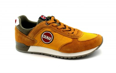 COLMAR TRAVIS COLORS scarpe yellow/khaki uomo sneakers lacci
