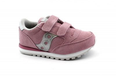 SAUCONY SK161594 DOUBLE JAZZ HL rosa argento scarpe sneakers bambina strappi