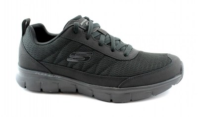 SKECHERS 52584 SYNERGY 3.0 black nero scarpe uomo sneakers memory foam lacci flex elite