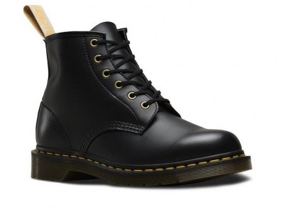 DR MARTENS VEGAN 101 FELIX RUB OFF anfibio Donna 6 buchi lacci waterproof vegan shoes