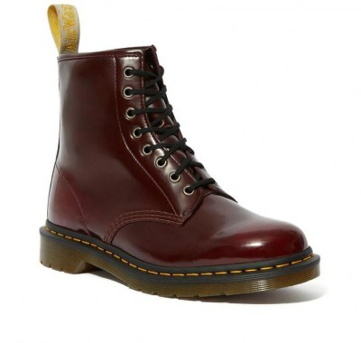 DR MARTENS VEGAN 1460 FELIX RUB OFF cherry red anfibio Donna 8 buchi lacci waterproof vegan shoes