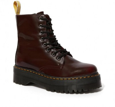 DR MARTENS V JADON II OXFORD RUB OFF anfibio Donna platform 8 buchi zip lacci vegan shoes