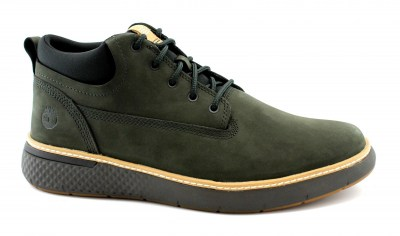 TIMBERLAND A26BE CROSS MARK dark green verde scarpe sneakers uomo lacci nabuk