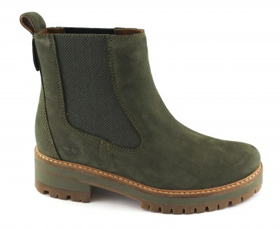 TIMBERLAND A1J5U COURMAYEUR VALLEY olive night verde donna scarpe scarponcini beatles