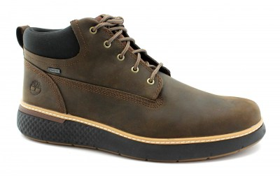 TIMBERLAND A1TQL CROSS MARK dark brown marrone uomo scarpe scarponcino lacci nabuk gore-tex waterproof