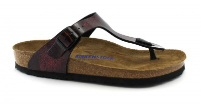 BIRKENSTOCK GIZEH BS iride strong red rosso ciabatte donna infradito fibbia