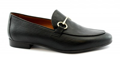 MAT:20 3378 nero black mocassino donna pelle nero morsetto