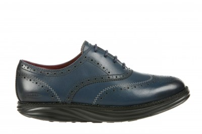 MBT 700915-1237N BOSTON WT M burnish dark denim uomo scarpe classiche lacci inglesina pelle