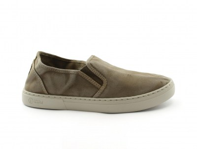 NATURAL WORLD scarpe Donna Slip on Elastico Cotone Bio plantare estraibile vegan shoes