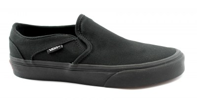 VANS ASHER A45JM1861 black nero scarpe unisex sneakers slip on elastico