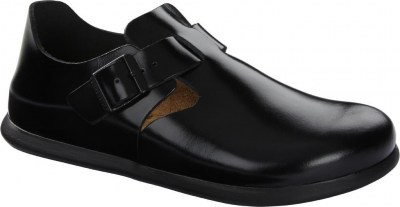 Birkenstock 1014641 London shiny black, Leather Nero
