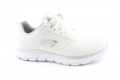 SKECHERS 12757 WSL BREAK FREE white /silver scarpe donna memory foam air cooled