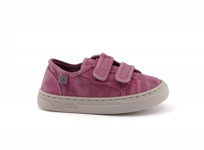 NATURAL WORLD Scarpe Bambina Sneakers Cotone Bio strappi vegan shoes