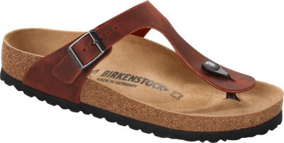 Birkenstock 1015546 Gizeh earth red, Oiled Leather Rosso