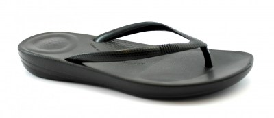 FITFLOP IQUSHION R07-001 pearlised black nero ciabatte infradito donna