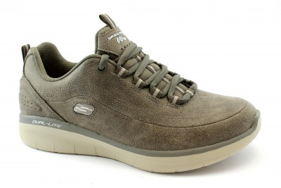 SKECHERS 12934 SYNERGY 2.0 dark taupe scarpe donna tessuto memory foam air cooled
