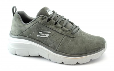 SKECHERS 149472 FASHION FIT charcoal grigio scarpe donna lacci memory foam