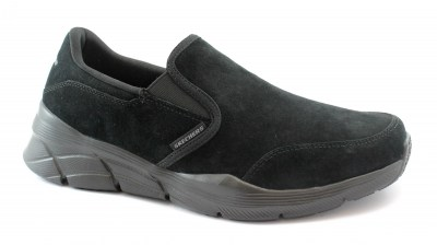 SKECHERS 232019 EQUALIZIER black nero scarpe uomo memory foam sportive slip on