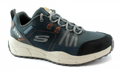 SKECHERS 237020 EQUALIZER navy blu scarpe uomo sportive memory foam lacci outdoor water repellent