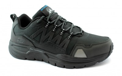 SKECHERS 51926 ESCAPE PLAN black nero scarpe uomo sneakers memory foam WATER REPELLENT outdoor
