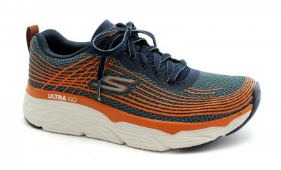 SKECHERS 54430 MAX CUSHIONING ELITE navy orange blu scarpe uomo sneakers memory memory foam