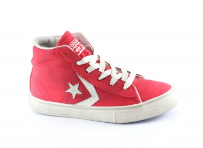 CONVERSE 643776CS 30/34 red white pro leather vulc mid canvas