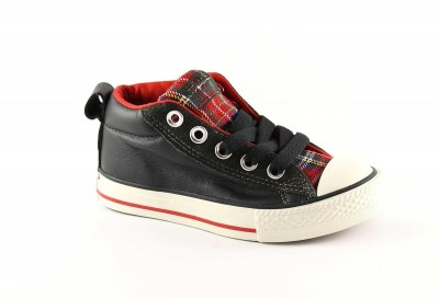 CONVERSE 646206C 27/34 black star player all star pelle ct street mid