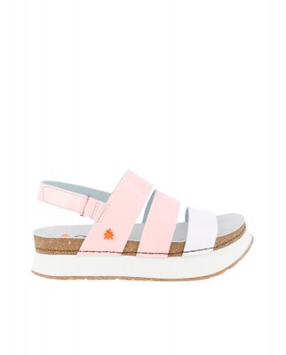 Art Company 1266 CITY ROSE-WHITE / MYKONOS Sandals Woman Pink Velcro
