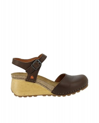 Art Company 1328 GRASS BROWN/ BORNE Sandals With Heel Woman Brown Buckle