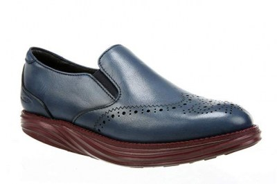 MBT 700936-1152 SHEFFIELD SLIP ON W burnished navy blu scarpa donna inglesina