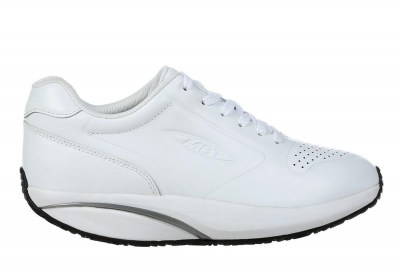 MBT 700970-16N 1997- LEATHER W white nappa bianco scarpe sneakers donna pelle lacci