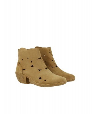 El Naturalista N5483 LUX SUEDE CAMEL / CALIZA Stivaletto Donna Pelle A Zip