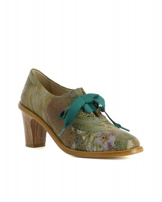 Neosens S534 FANTASY FLORAL TAUPE/ CYNTHIA Heeled Shoes Woman  Laces