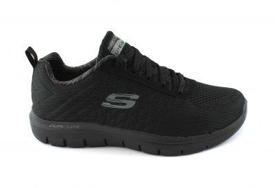 SKECHERS 52185 THE HAPPS black nero scarpe uomo memory foam