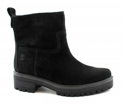 TIMBERLAND A257S COURMAYEUR VALLEY black nero scarpe donna stivaletto zip lana